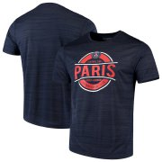 Wholesale Cheap Paris Saint-Germain Levelwear Advantage T-Shirt Heathered Navy