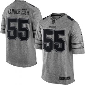 Wholesale Cheap Nike Cowboys #55 Leighton Vander Esch Gray Men\'s Stitched NFL Limited Gridiron Gray Jersey