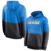 Wholesale Cheap Los Angeles Chargers Nike Sideline Impact Lockup Performance Pullover Hoodie Powder Blue Navy