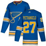 Wholesale Cheap Adidas Blues #27 Alex Pietrangelo Blue Alternate Authentic Stitched Youth NHL Jersey