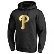 Wholesale Cheap Philadelphia Phillies Gold Collection Pullover Hoodie Black