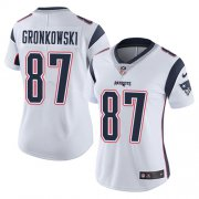 Wholesale Cheap Nike Patriots #87 Rob Gronkowski White Women's Stitched NFL Vapor Untouchable Limited Jersey