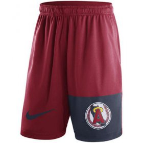 Wholesale Cheap Men\'s Los Angeles Angels of Anaheim Nike Red Cooperstown Collection Dry Fly Shorts
