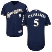 Wholesale Cheap Brewers #5 Cory Spangenberg Navy Blue Flexbase Authentic Collection Stitched MLB Jersey
