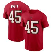 Wholesale Cheap Tampa Bay Buccaneers #45 Devin White Nike Team Player Name & Number T-Shirt Red