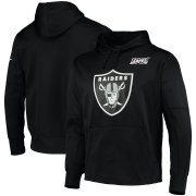 Wholesale Cheap Las Vegas Raiders Nike 100th Season Primary Logo Circuit Performance Pullover Hoodie Black