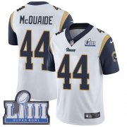 Wholesale Cheap Nike Rams #44 Jacob McQuaide White Super Bowl LIII Bound Men's Stitched NFL Vapor Untouchable Limited Jersey