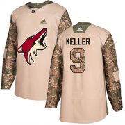 Wholesale Cheap Adidas Coyotes #9 Clayton Keller Camo Authentic 2017 Veterans Day Stitched NHL Jersey