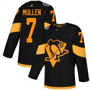 Wholesale Cheap Adidas Penguins #7 Joe Mullen Black Authentic 2019 Stadium Series Stitched NHL Jersey