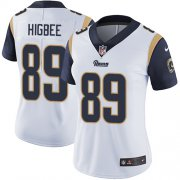 Wholesale Cheap Nike Rams #89 Tyler Higbee White Women's Stitched NFL Vapor Untouchable Limited Jersey