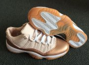 Wholesale Cheap Womens Air Jordan 11 Low Rose Gold Sail/Metallic Red Bronze-Gum Medium Brown