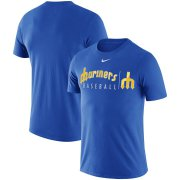 Wholesale Cheap Seattle Mariners Nike MLB Team Logo Practice T-Shirt Royal