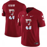 Wholesale Cheap Washington State Cougars 3 Daniel Isom Red Fashion College Football Jersey