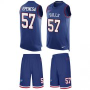 Wholesale Cheap Nike Bills #57 A.J. Epenesas Royal Blue Team Color Men's Stitched NFL Limited Tank Top Suit Jersey