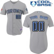 Wholesale Cheap Blue Jays Authentic Grey Cool Base MLB Jersey (S-3XL)