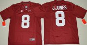 Wholesale Cheap Men's Alabama Crimson Tide #8 Julio Jones Red Limited Stitched College Football Nike NCAA Jersey