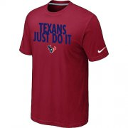 Wholesale Cheap Nike Houston Texans Just Do It Red T-Shirt