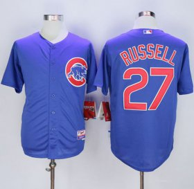 Wholesale Cheap Cubs #27 Addison Russell Blue Alternate Cool Base Stitched MLB Jersey