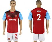 Wholesale Cheap West Ham United #2 Reid Home Soccer Club Jersey