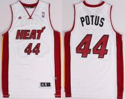 Wholesale Cheap Miami Heat Blank #44 Potus Nickname White Swingman Jersey