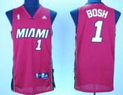 Wholesale Cheap Miami Heat #1 Chris Bosh Red Swingman Jersey