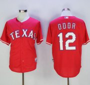 Wholesale Cheap Rangers #12 Rougned Odor Red Cool Base Stitched MLB Jersey