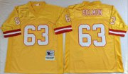 Wholesale Cheap Mitchell And Ness Buccaneers #63 Lee Roy Selmon Gold Throwback Stitched NFL Jersey