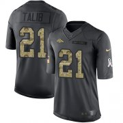 Wholesale Cheap Nike Broncos #21 Aqib Talib Black Men's Stitched NFL Limited 2016 Salute to Service Jersey