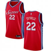 Wholesale Cheap 76ers #22 Mattise Thybulle Red Basketball Swingman Statement Edition Jersey