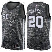 Wholesale Cheap Nike San Antonio Spurs #20 Manu Ginobili Camo NBA Swingman City Edition Jersey