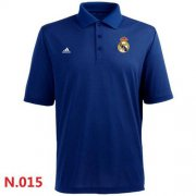 Wholesale Cheap Adidas Real Madrid CF Textured Solid Performance Polo Blue