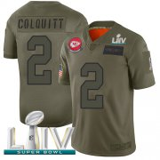 Wholesale Cheap Nike Chiefs #2 Dustin Colquitt Camo Super Bowl LIV 2020 Youth Stitched NFL Limited 2019 Salute To Service Jersey