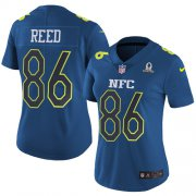Wholesale Cheap Nike Redskins #86 Jordan Reed Navy Women's Stitched NFL Limited NFC 2017 Pro Bowl Jersey