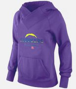 Wholesale Cheap Women's Los Angeles Chargers Big & Tall Critical Victory Pullover Hoodie Purple