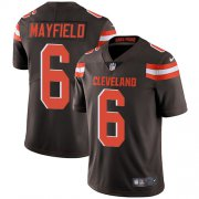 Wholesale Cheap Nike Browns #6 Baker Mayfield Brown Team Color Men's Stitched NFL Vapor Untouchable Limited Jersey