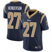 Wholesale Cheap Nike Rams #27 Darrell Henderson Navy Blue Team Color Men's Stitched NFL Vapor Untouchable Limited Jersey