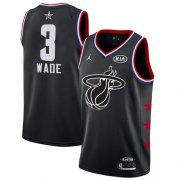Wholesale Cheap Heat #3 Dwyane Wade Black Basketball Jordan Swingman 2019 All-Star Game Jersey