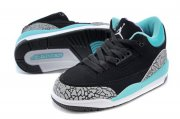 Wholesale Cheap Air Jordan 3 Kids Gg Shoes black/blue-gray cement