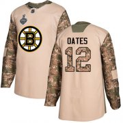 Wholesale Cheap Adidas Bruins #12 Adam Oates Camo Authentic 2017 Veterans Day Stanley Cup Final Bound Stitched NHL Jersey