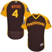 Wholesale Cheap Padres #4 Wil Myers Brown Flexbase Authentic Collection 2016 All-Star National League Stitched MLB Jersey