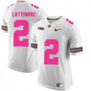 Wholesale Cheap Ohio State Buckeyes 2 Overview Lattimore White 2018 Breast Cancer Awareness College Football Jersey