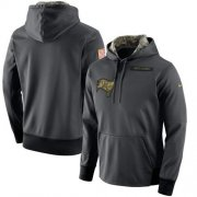 Wholesale Cheap Men's Tampa Bay Buccaneers Nike Anthracite Salute to Service Player Performance Hoodie