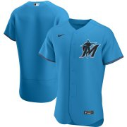Wholesale Cheap Miami Marlins Men's Nike Blue Alternate 2020 Authentic Team MLB Jersey