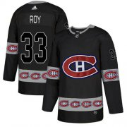 Wholesale Cheap Adidas Canadiens #33 Patrick Roy Black Authentic Team Logo Fashion Stitched NHL Jersey
