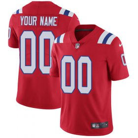 Wholesale Cheap Nike New England Patriots Customized Red Alternate Stitched Vapor Untouchable Limited Men\'s NFL Jersey