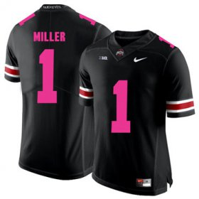 Wholesale Cheap Ohio State Buckeyes 1 Braxton Miller Black 2018 Breast Cancer Awareness College Football Jersey