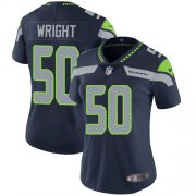Wholesale Cheap Nike Seahawks #50 K.J. Wright Steel Blue Team Color Women's Stitched NFL Vapor Untouchable Limited Jersey
