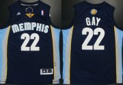 Wholesale Cheap Memphis Grizzlies #22 Rudy Gay Revolution 30 Swingman Navy Blue Jersey