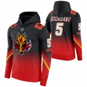 Wholesale Cheap Calgary Flames #5 Mark Giordano Adidas Reverse Retro Pullover Hoodie Black
