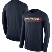 Wholesale Cheap Denver Broncos Nike Sideline Seismic Legend Long Sleeve T-Shirt Navy